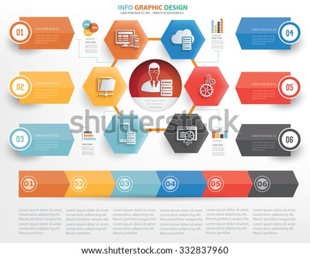 Network,admin concept info graphic design on white background,vector - stock vector