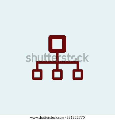 Network block diagram red vector icon stock photo photo vector network block diagram red vector icon simple modern illustration pictogram collection concept symbol ccuart Image collections