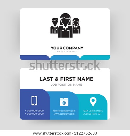 Network business card design template visiting stock vector network business card design template visiting for your company identity card vector illustration flashek Gallery