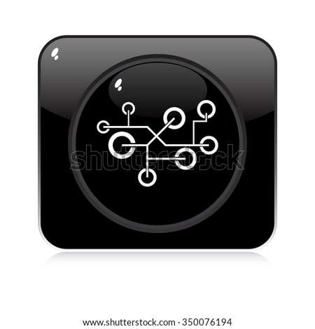 network button - stock vector