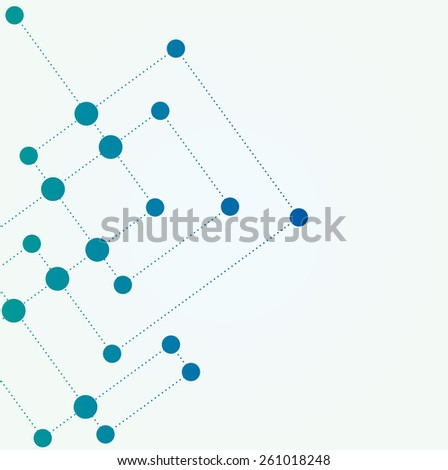 Network color technology communication background  - stock vector
