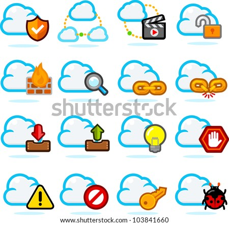 Network Communication Icon set B