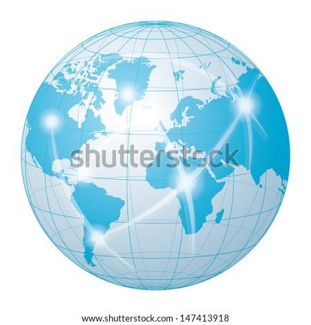 network communication world - stock vector