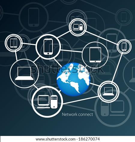 Network concept - stock vector