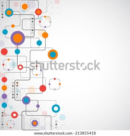 Network concept / Social media - stock vector