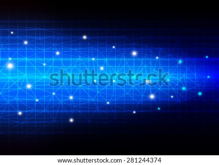 Network connection concept on technology abstract background, vector illustration