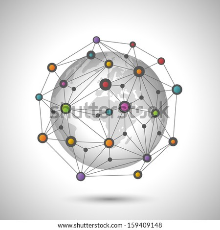 Network earth, eps10 vector - stock vector