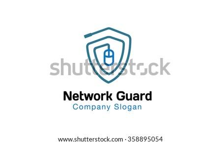 Network Guard Design Illustration - stock vector