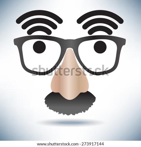 Network Hot Spot Icon Face - stock vector