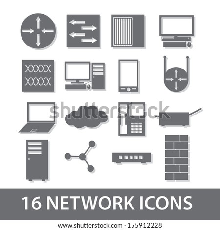 network icon collection eps10 - stock vector