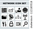 network icon set, www - stock vector