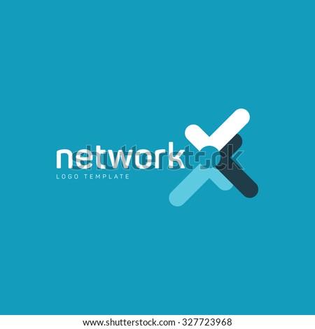 Network logo. Digital logo. Company network logo. Vector color logo - stock vector