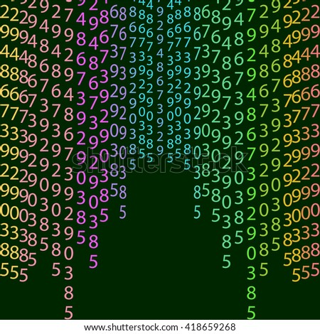 Network matrix coding program green row order concept code vector encoding bright algorithm cyberspace symbol tech binary stream data light digital numerical typography black technology repeat cryptic - stock vector
