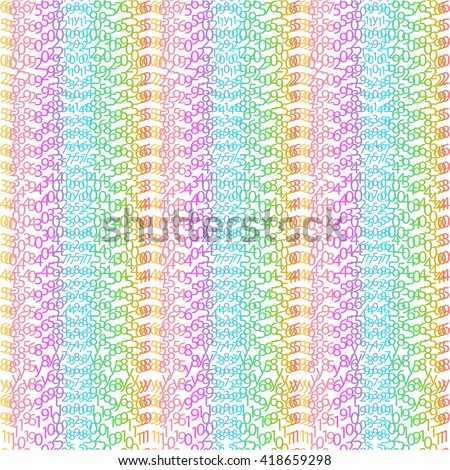 Network matrix coding program green row order concept code vector encoding bright algorithm cyberspace symbol tech binary stream data light digital numerical typography white technology repeat cryptic - stock vector