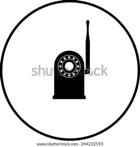 Network Security Camera Symbol Stock Vector 244232593 Shutterstock