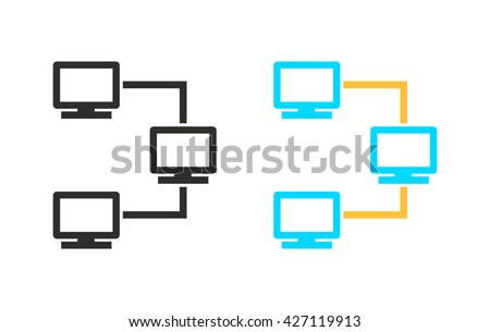 Network     vector icon. Illustration isolated for graphic and web design.