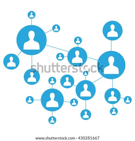 Network vector illustration. Connecting people. Social media marketing. Network icon