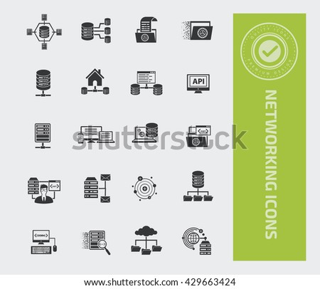 Networking icon set,vector