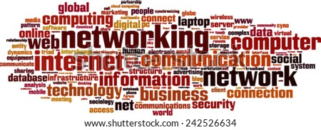 Networking word cloud concept. Vector illustration - stock vector