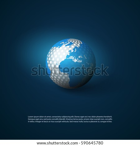 Networks Concept with World Map - Global Network Connections, Technology Concept Background, Creative Design Element Template