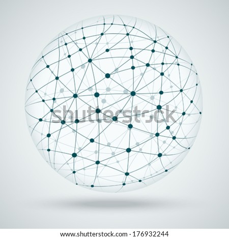 Networks, global connections. - stock vector