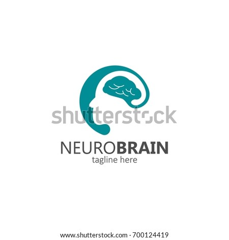 neuro brain logo stock vector 700124419 shutterstock