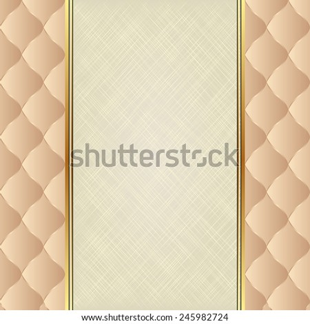 neutral background with canvas texture - stock vector