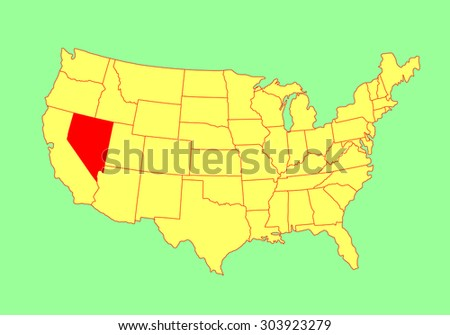 nevada state usa vector map isolated on united states map editable blank vector