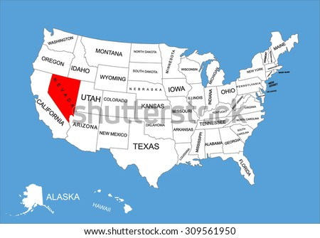 Nevada Map Stock Images RoyaltyFree Images Vectors Shutterstock - Nevada in us map