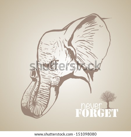 NEVER FORGET - stock vector
