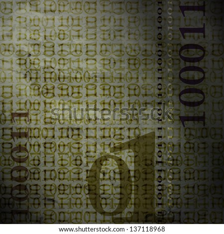 new abstract background with binary code can use like modern wallpaper - stock vector
