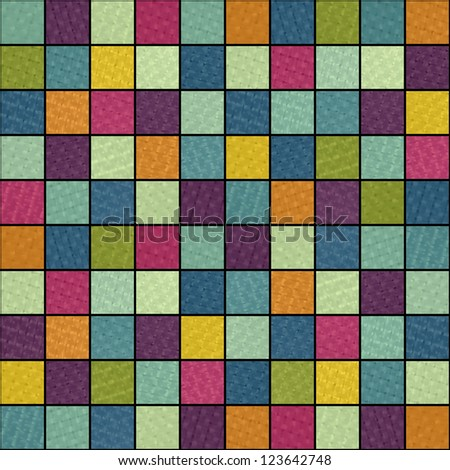 new abstract background with colored mosaic can use like modern wallpaper - stock vector