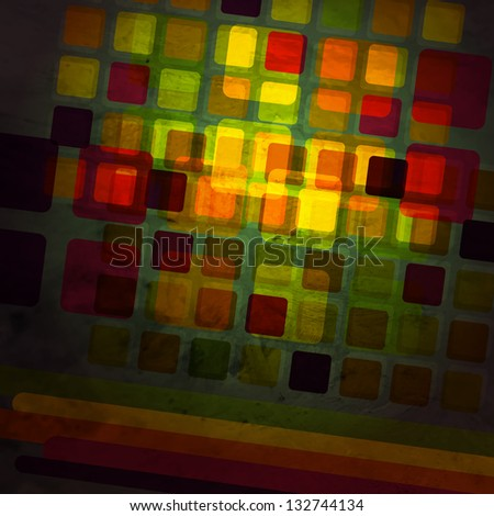 new abstract background with colorful glass squares can use like modern wallpaper - stock vector