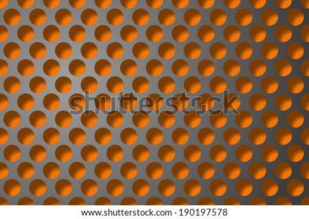 new abstract background with metallic grill. gradient mash - stock vector