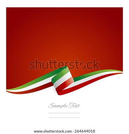 New abstract Italy flag ribbon - stock vector