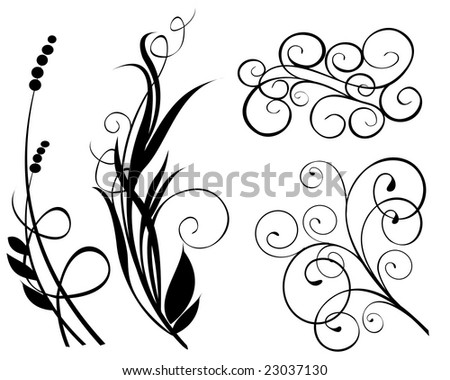 New abstract nature motive 5 - stock vector