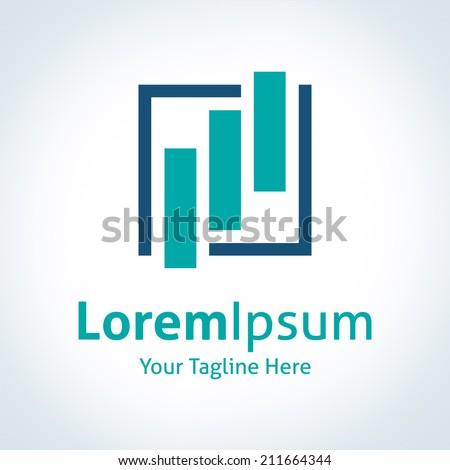 New age economy finance logo logotype corporation icon - stock vector