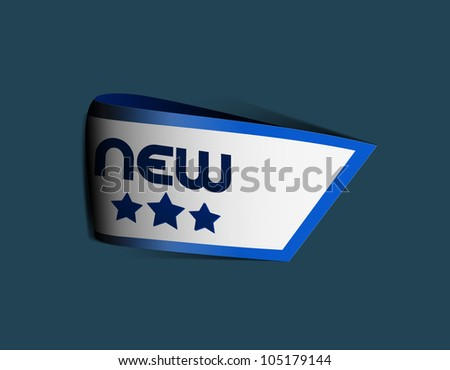 New arrival ribbon - stock vector