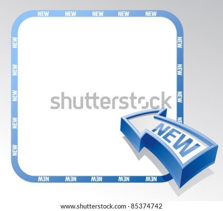 New arrow banner with place for text. - stock vector