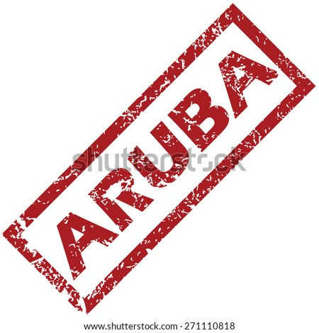 New Aruba grunge rubber stamp on a white background. Vector illustration