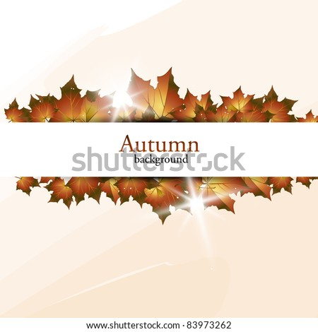 New autumn banner. Vector illustration. - stock vector