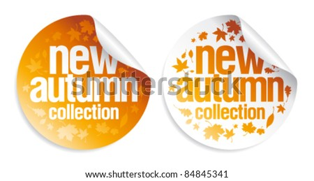 New autumn collection stickers set.