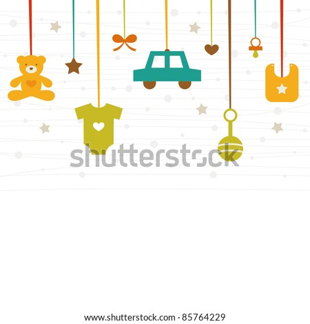 new baby icons - stock vector