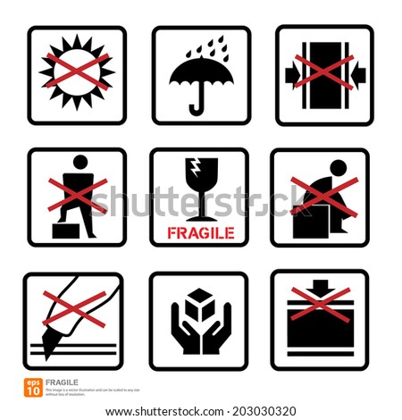 New box sign warning vector icon