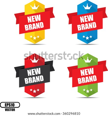 New Brand  label and sign - Vector illustration
