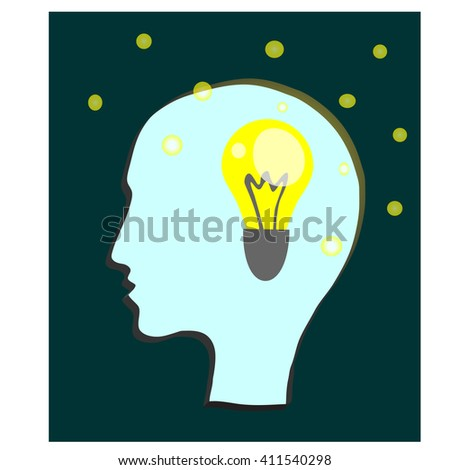new bright idea - Icon Vector.  - stock vector