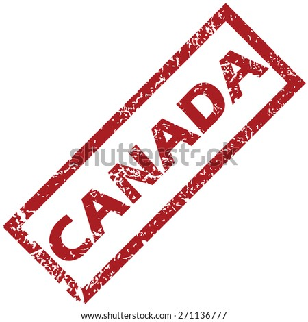 New Canada grunge rubber stamp on a white background. Vector illustration