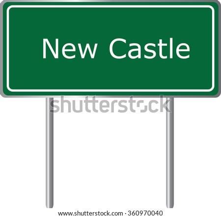 New Castle , Colorado, road sign green vector illustration, road table, USA city - stock vector