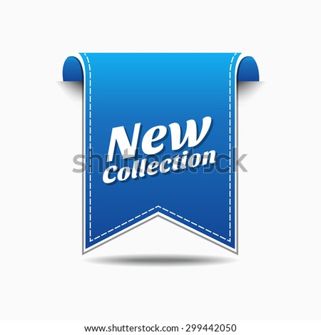 New Collection Blue Vector Icon Design