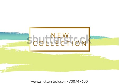 New Collection Fashion Header Elegant Frame Stock Vector (2018 ...